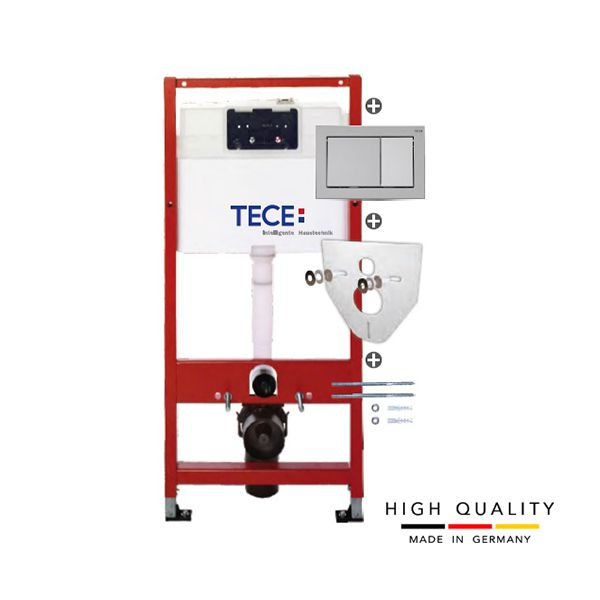 Ugradni vodokotlić TECE modul +  tipka hrom