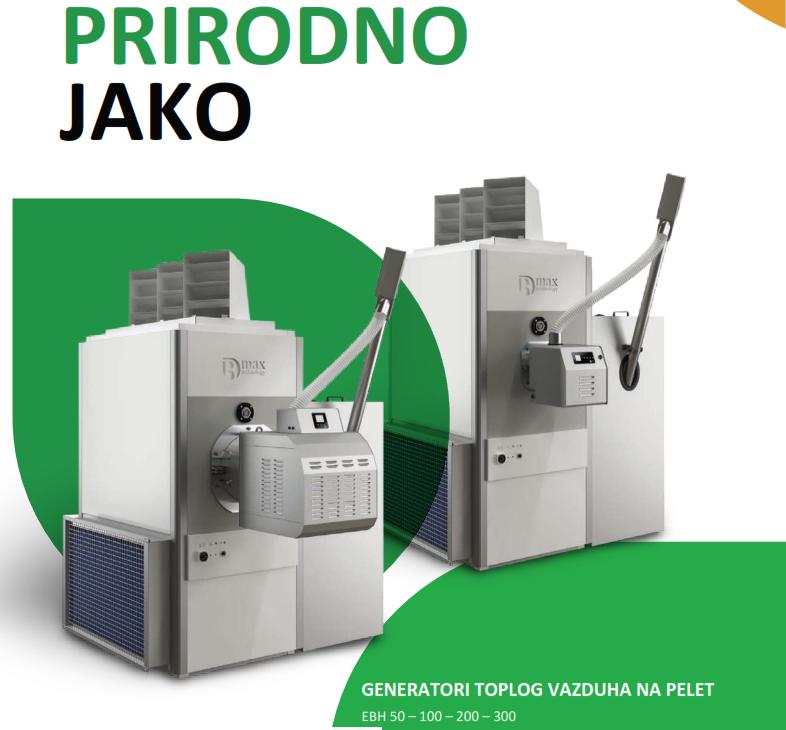 Generatori toplog vazduha - termogeni na pelet