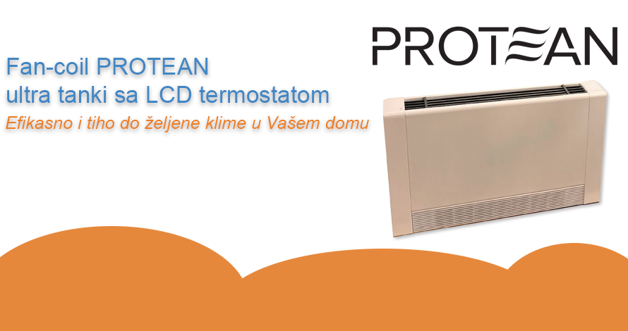 Fan-coil PROTEAN ultra tanki sa LCD termostatom