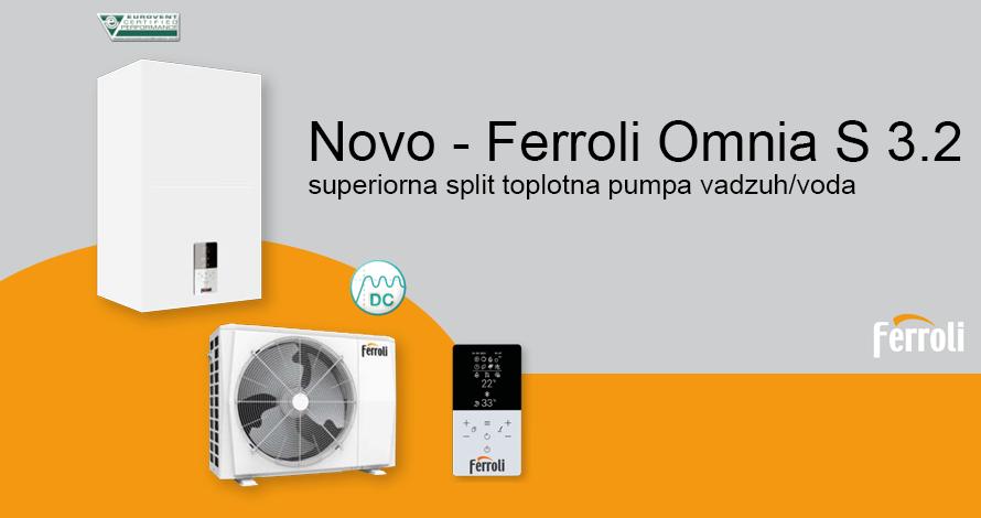 Toplotna pumpa split vazduh/voda FERROLI Omnia S 3.2