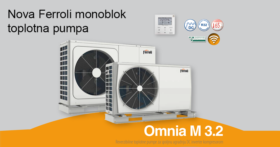 Toplotna pumpa monoblok vazduh/voda FERROLI Omnia M