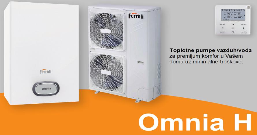 Toplotna pumpa FERROLI vazduh/voda Omnia split sistem za grejanje i hladjenje