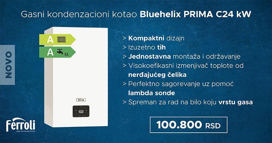 Gasni kondenyacioni kotao FERROLI Bluehelix PRIMA